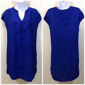 MADEWELL COBALT BLUE SHIRT DRESS SIZE XXS